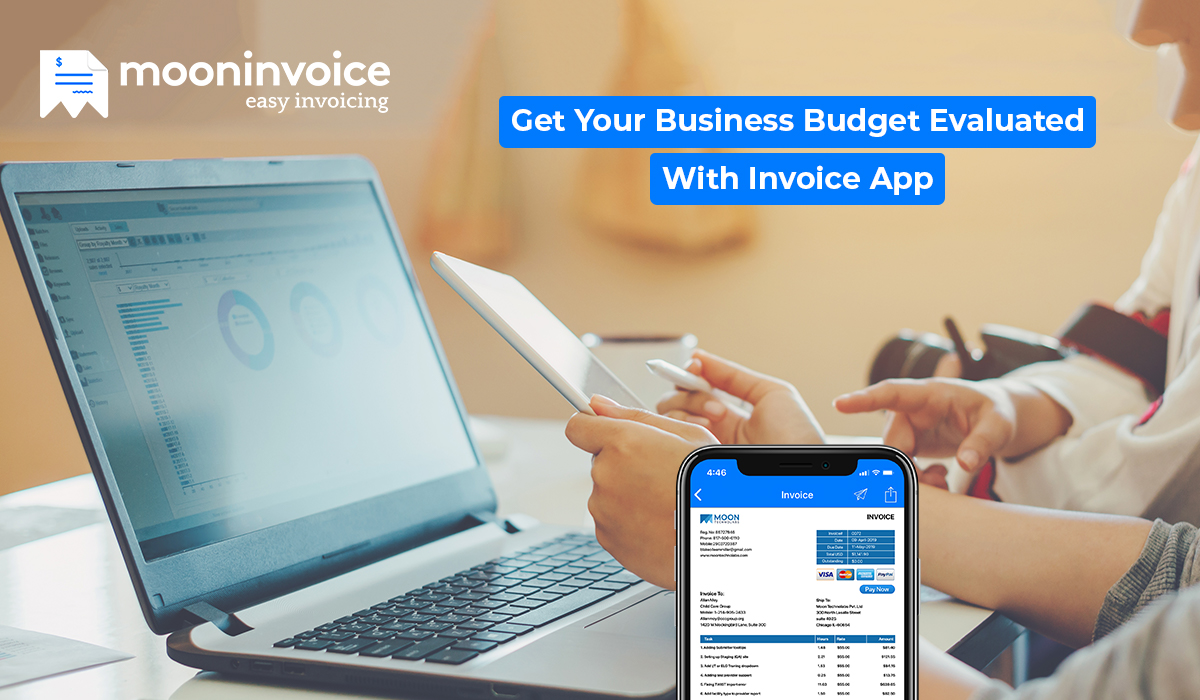 business budget by using invoice app