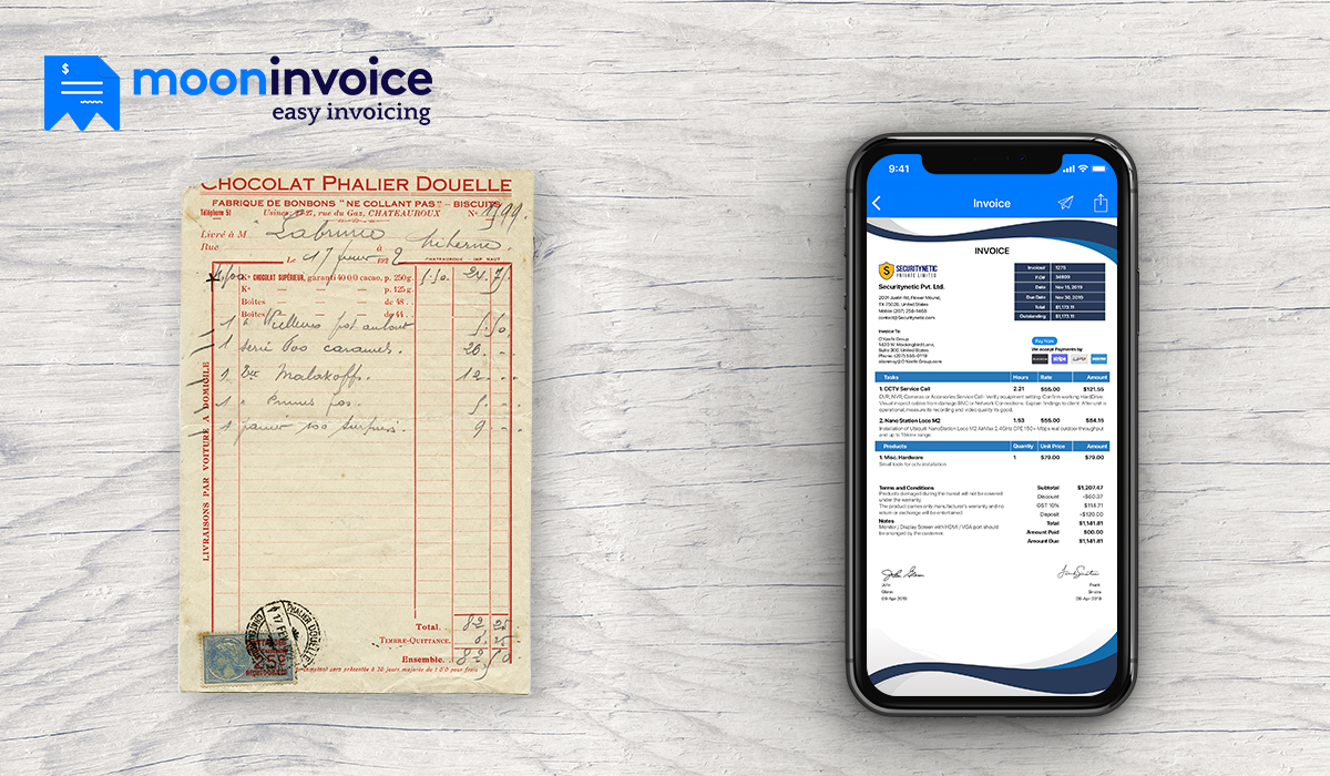 professional invoice or even an offline invoice software | Moon Invoice