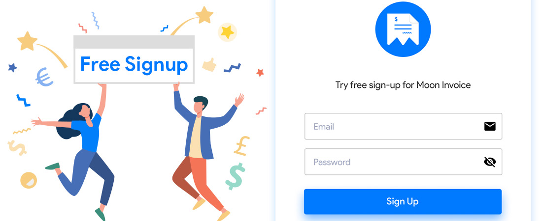 Signup - Moon Invoice