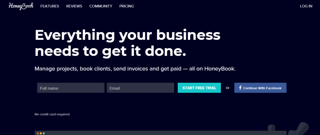 Honeybook - Moon Invoice