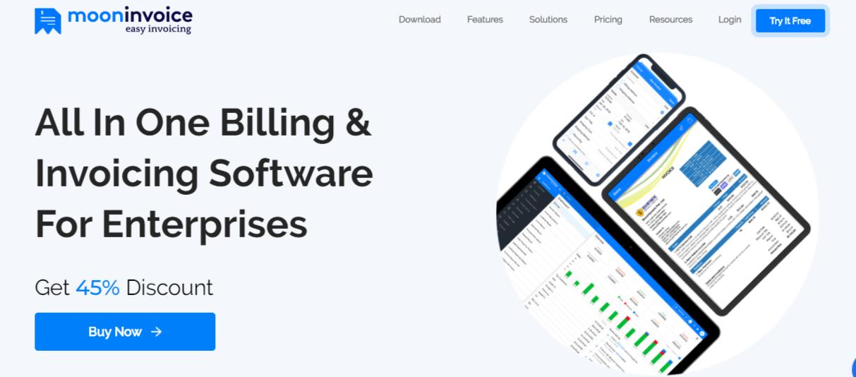 Moon Invoice app