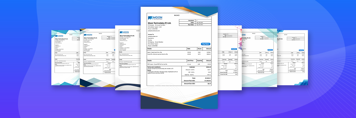 Template Approval - Moon Invoice