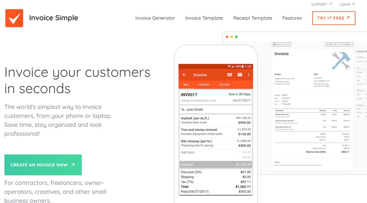 Invoice Simple - Moon Invoice