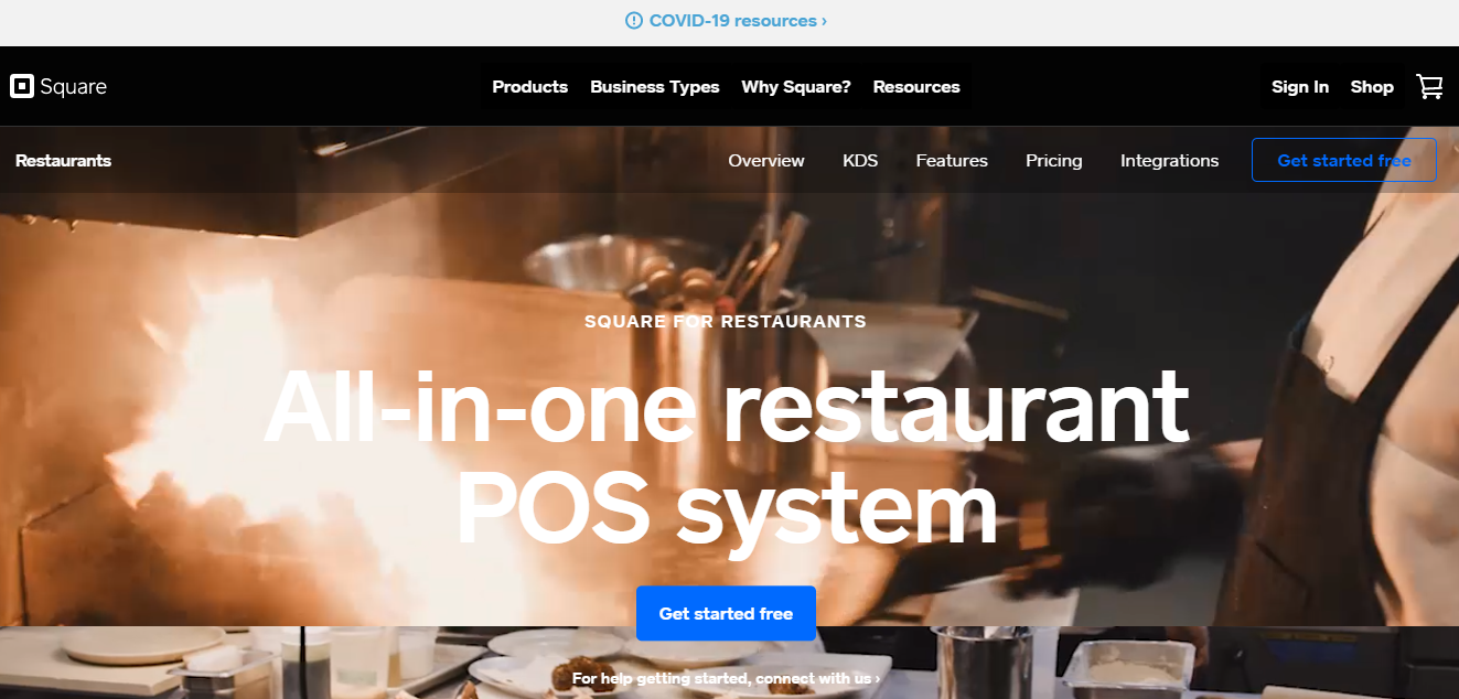 Square For Restaurants POS System - Moon Invoice
