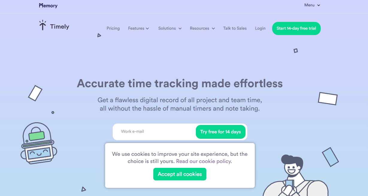 Timely Time Tracking - Moon Invoice