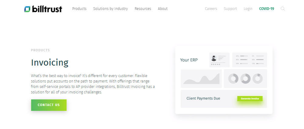 Billtrust Invoicing billing accounting software - Moon Invoice