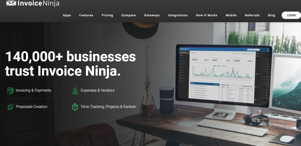 Invoice Ninja billing & accounting software - Moon Invoice
