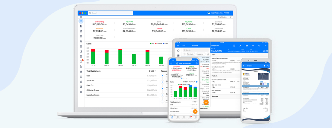 For  financial services estimate and invoice software Use Moon  Invoice