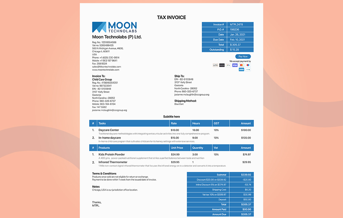 What is an Invoice Document try Automatic Invoicing software - moon Invoice