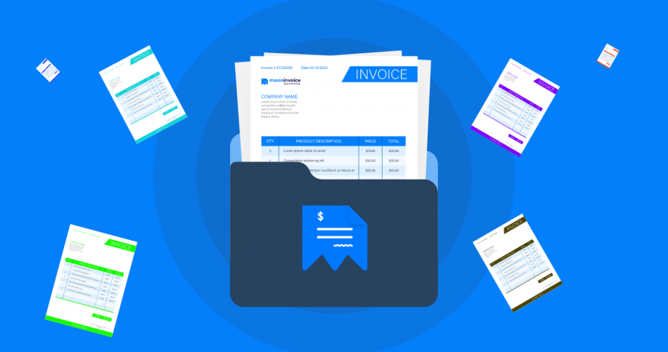 Download Moon Invoice For Creating Attractive Invoices, Choose from 66 Templates!